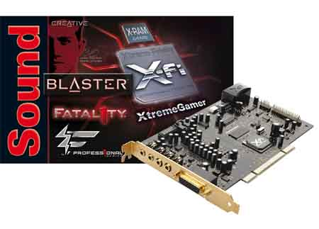 Creative Sound Blaster X-Fi Xtreme Gamer Fatal1ty 7.1 (Internal)
